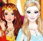 Princesas gelo e fogo maquiar