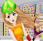 Roupas da menina do tênis