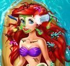 Princesa Ariel no banho