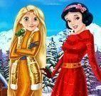 Rapunzel e Branca de Neve roupas de frio