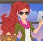 Vestir menina para viajar