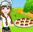 Anna fazer empada de pizza
