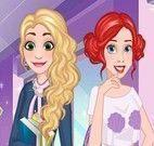 Ariel e Elsa roupas da faculdade