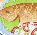 Decorar prato de peixe