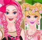 Vestir Barbie princesa rosa