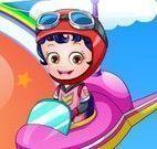 Vestir bebê Hazel piloto de avião