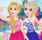 Vestir princesas para casamento da Rapunzel