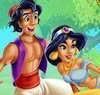 Aladdin e Jasmine beijar