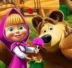 Masha e Bear limpar e decorar casa