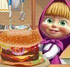 Masha fazer hamburguer