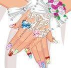 Pintar unhas da noiva