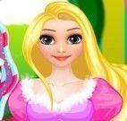 Rapunzel princesinha penteado