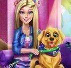 Barbie limpar casa