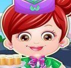 Bebê Hazel roupas de aeromoça