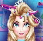 Elsa cuidar dos cabelos
