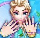 Elsa princesa pintar unhas
