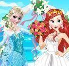 Noivas Elsa e Ariel