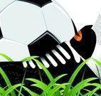 Colorir desenho do menino futebol