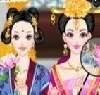 Maquiar e vestir menina chinesa