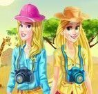 Aurora e Rapunzel no safari