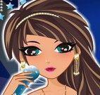 Cantora roupas e maquiagem