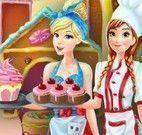 Cinderela e Anna roupas de garçonete