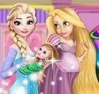 Elsa e Rapunzel decorar quarto do bebê