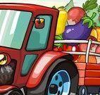 Fazendeiro transportar legumes