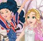 Princesas moda andar de patins
