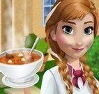 Anna Frozen fazer sopa