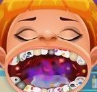 Dentes podres do menino