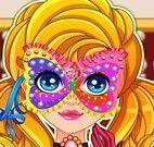 Máscara de carnaval da menina