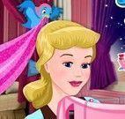 Princesa Cinderela costurar vestido