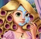 Princesa Rapunzel no spa