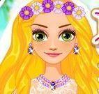 Rapunzel casar na praia