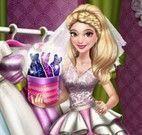 Vestido da menina noiva