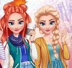 Elsa roupas de outono