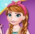 Princesa maquiagem Anna Frozen