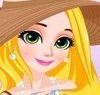 Rapunzel maquiar e vestir para viajar