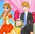 Elsa e Anna irmãs noivas