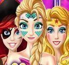 Maquiagem e roupas de Halloween princesas