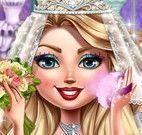 Noiva maquiar e vestido