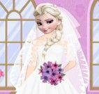 Noivinha Elsa vestir e maquiar
