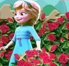 Princesa Elsa bebê jardinagem