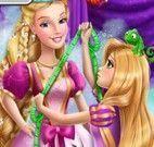 Rapunzel fazer vestido da Barbie