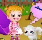Bebê Hazel parque de diversões