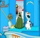Elsa Frozen limpar banheiro