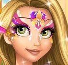 Rapunzel pintar rosto