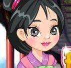 Princesa Mulan decorar sapato