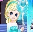 Vestir bebê Elsa princesa